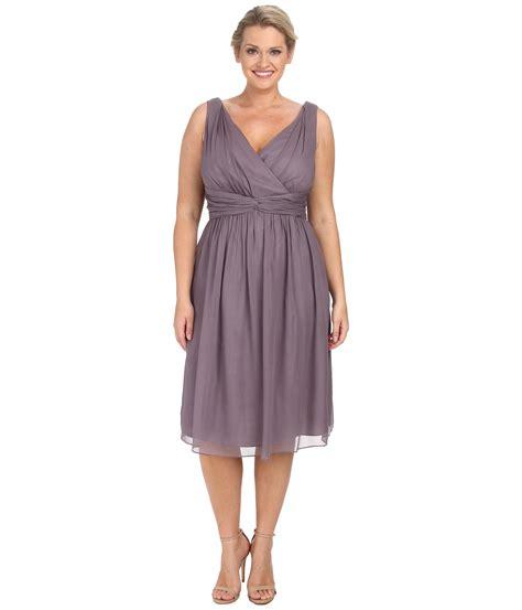 Dress Frendy lyst donna plus size bra friendly chiffon dress in purple
