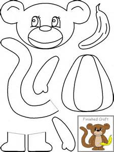 letter m monkey templates going to use this to make the