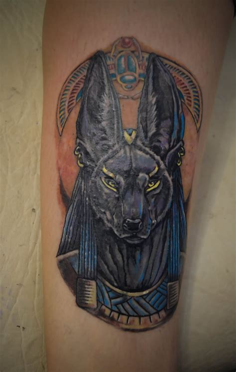 anubis tattoos grey ink anubis design
