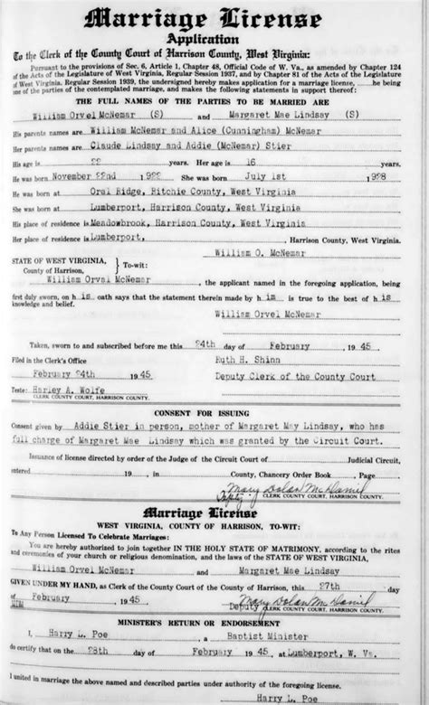 Social Security Office Clarksburg Wv william orvel mcnemar margaret mae lindsay
