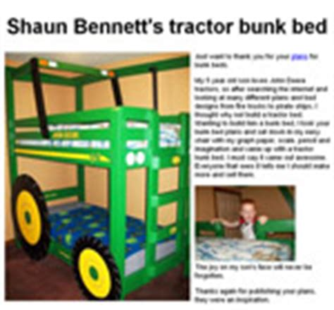 Tractor Bunk Bed Plans Tractor Bed Woodworking Plans
