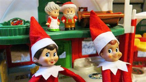 On The Shelf Santa by On The Shelf Visits Santa And Mrs Claus Day 12