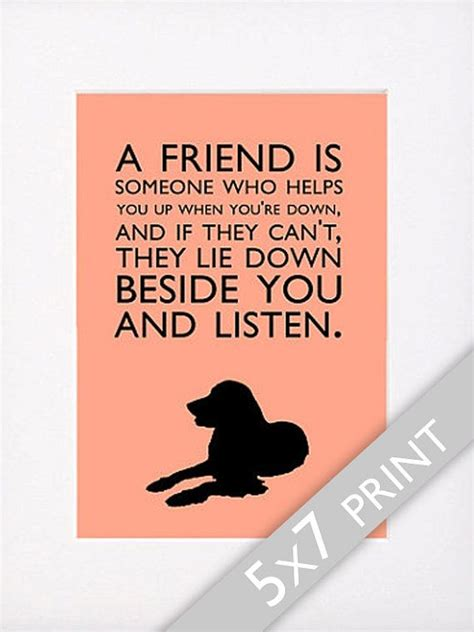 printable dog quotes dog quotes golden retriever print quot a friend is someone who