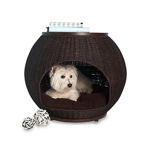 bed bath and beyond dog bed the refined canine deluxe indoor igloo pet bed with