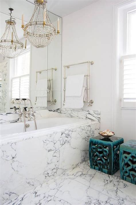 chandelier tub marble clad bathtub with flea market chandelier