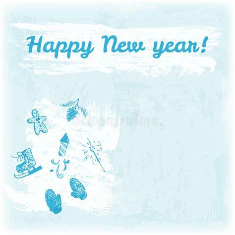 doodle happy new year doodle happy new year illustration mittens
