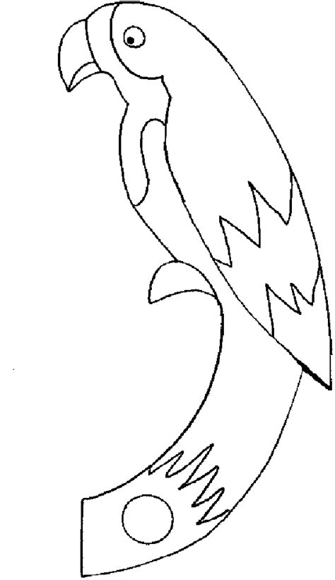 parrot template printable free printable parrot coloring pages for