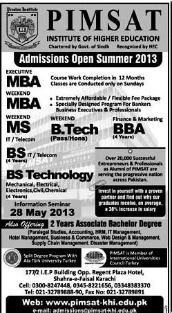 Mississippi State Mba Prerequisites by Pimsat Institute Offers Bs Bba Mba Ms Bs Tech Admissions 2013