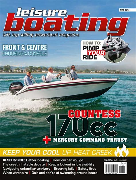 leisure boating magazine cover of may 2017 edition of leisure boating magazine