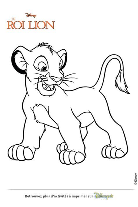 Coloriage Simba Le Lionceau Disney Coloriages Fr