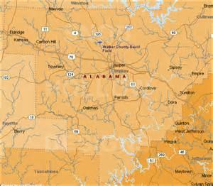 walker county alabama color map