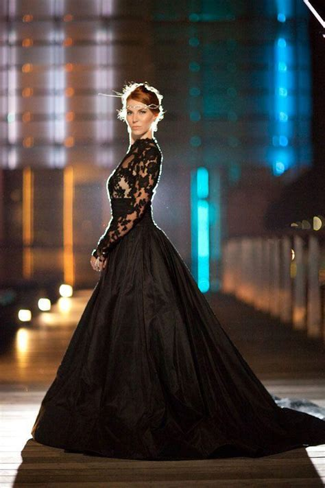 black bridesmaid dresses for every style of wedding vintage style long sleeve high neck black lace wedding