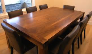 solid walnut handmade dining room table by innovative