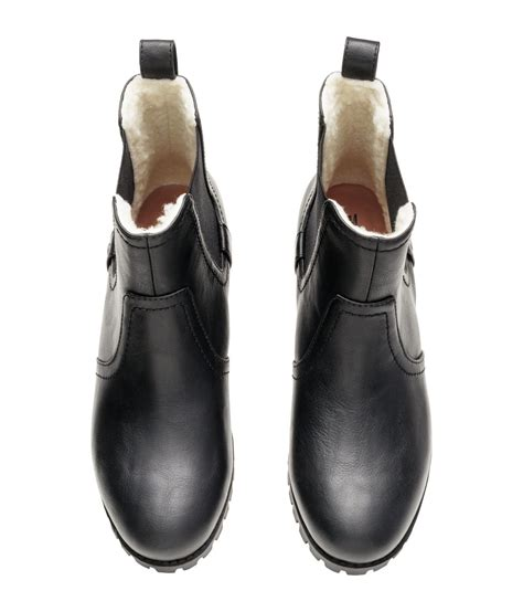 chelsea boots h m h m lined chelsea boots in black lyst