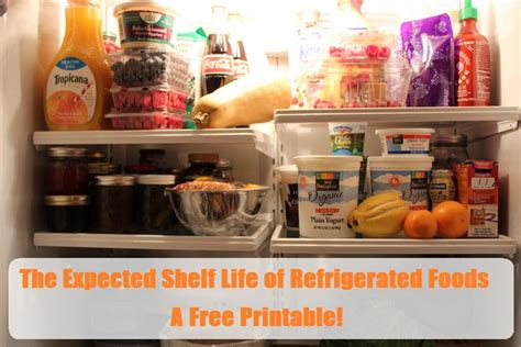 Shelf Of Refrigerated Foods by The Expected Shelf Of Refrigerated Foods A Free Printable The Prepared Page