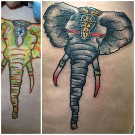 tattoo fixers elephant traditional elephant tattoo tumblr