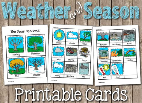 printable seasons poster weather seasons printable cards weather seasons