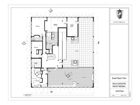 villa savoye floor plans villa savoye revit model quan nyen tran archinect