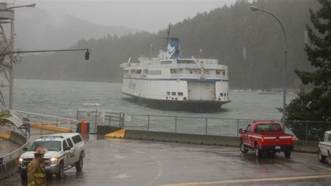 boat windshields vancouver wind causes bc ferries ship to drop anchor possibly run