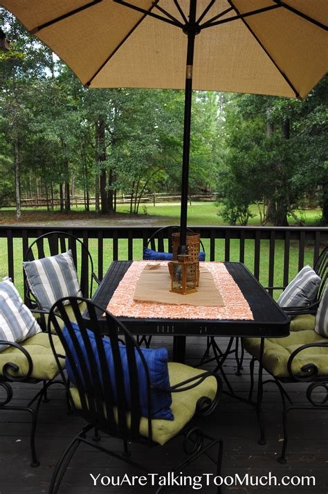Outdoor Table Runner No Sew Outdoor Table Cover And Runner You Are Talking