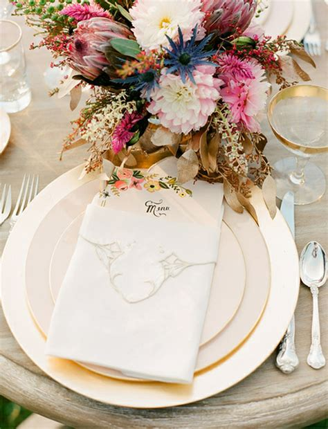 beautiful place settings wedding table decoration idea pretty place settings