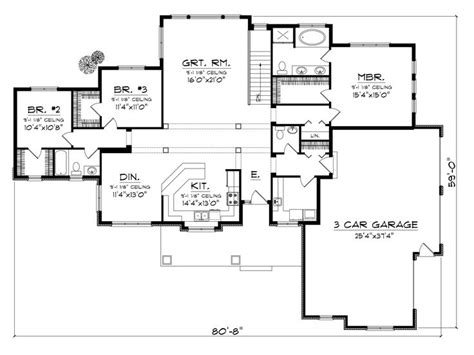 sprawling house plans craftsman home plans sprawling one story craftsman house plan 020h 0327 at thehouseplanshop com