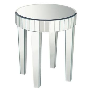 round mirrored accent table mirrored accent table look 4 less and steals and deals