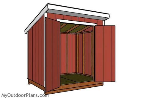 6 X 8 Shed Plans by 6x8 Lean To Shed Plans Myoutdoorplans Free Woodworking