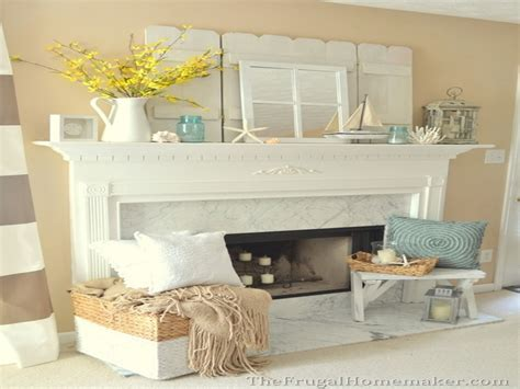 nicely decorated homes coastal fireplace mantel decor