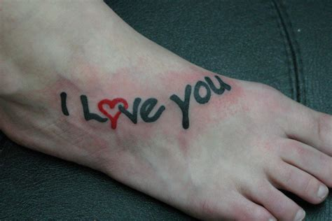 love tattoo on foot love tattoo on feet