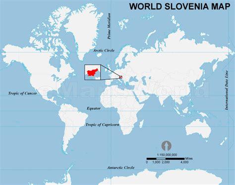 slovenia on world map slovenia location map location map of slovenia