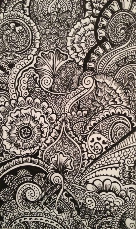 henna pattern iphone wallpaper pretty drawing illustration black and white hipster design