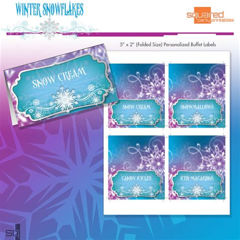 printable frozen table cards frozen princess winter snowflakes printable tent cards