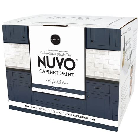 nuvo oxford blue cabinet paint kit giani inc