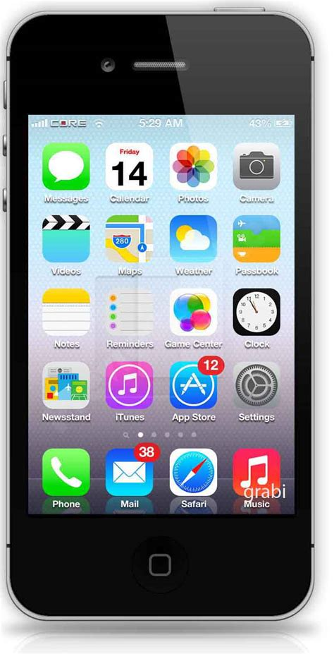 iphone screenshot ios 7 beta theme install on ios 6 iphone and ipod touch 5g and android