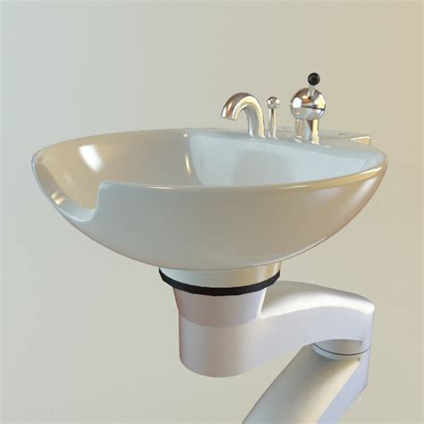 Hair Salon Sink hair salon shoo sink 3d model max obj 3ds fbx