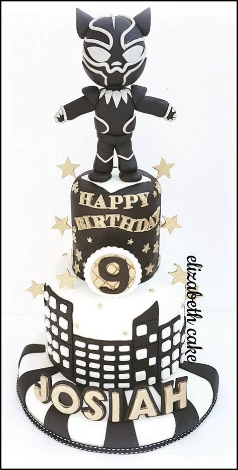 Between The Pages Black cool black panther 9th birthday cake between the pages