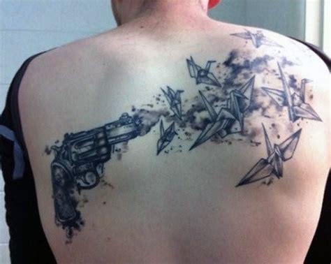 tattoo gun back 50 gun tattoos for men explosive bullet design ideas