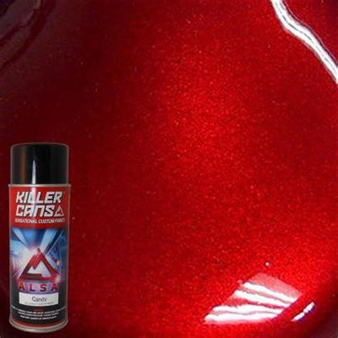 blood red paint alsa refinish 12 oz candy blood red killer cans spray
