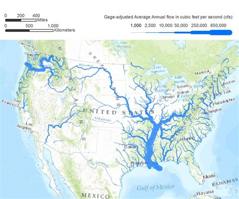 map of usa rivers american rivers a graphic pacific institute