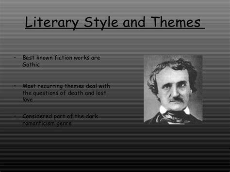themes in edgar allan poe s stories writing style of edgar allan poe