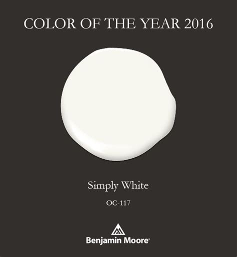 2016 paint color of the year 2016 benjamin moore color of the year simply white