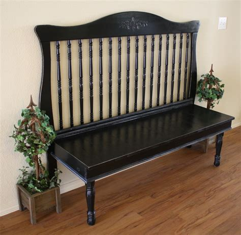 bed into bench turn a crib into a bench