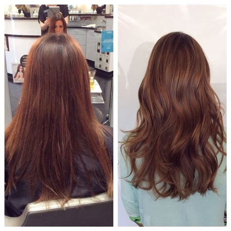 black hair stylists in nashville before and after with aveda color balayage highlights