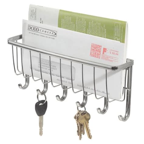 Wall Mounted Mail Organizer And Key Rack by Interdesign Wall Mount Hanging Mail And Letter Bill Holder