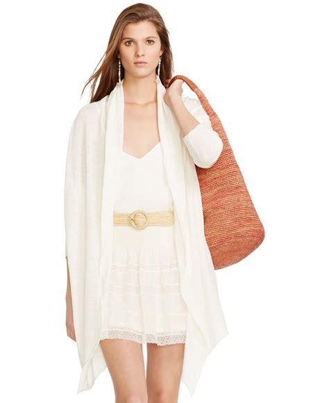 draped open front cardigan polo ralph lauren draped open front cardigan in beige