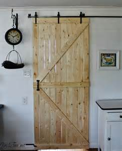our diy barn door knick of time