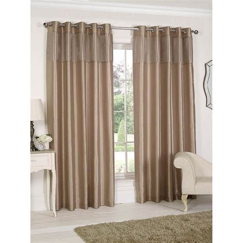 seattle faux silk pleated top pleated top border fully lined curtain curtains b m