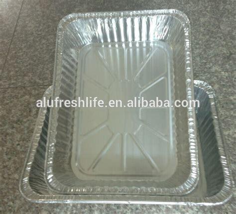 Aluminium Foil Bulat Tanggung pakai terbaik jual kualitas baik persegi panjang bentuk aluminium foil wadah untuk kemasan