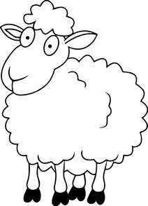 coloring page of a sheep collections